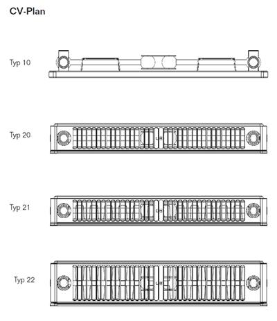 Buderus Heizkorper Vertikal Kompakt Cv Plan Typ 21 1800x500 Mm H X