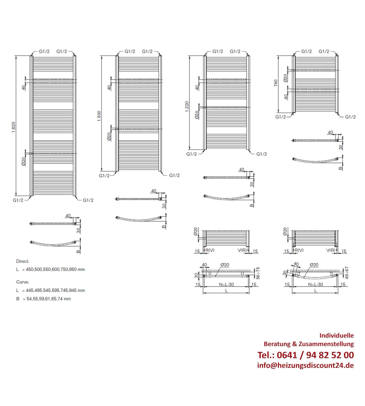 buderus therm direct badheizk rper mit seitenanschlu 1500x450 mm h x l heizk rper heizung. Black Bedroom Furniture Sets. Home Design Ideas
