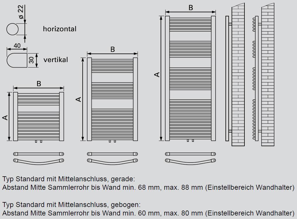 viessmann badheizk rper mittelanschluss gerade 1726x600x30 mm hxbxt heizk rper heizung und. Black Bedroom Furniture Sets. Home Design Ideas