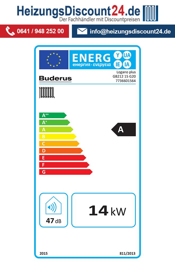 Buderus GB212, 15 kW, Logano plus Gas-Brennwertkessel, IP-Inside ...
