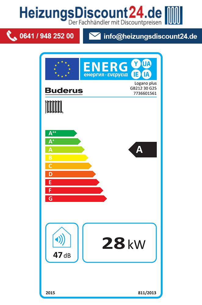 Buderus GB212, 30 kW, Logano plus Gas-Brennwertkessel, IP-Inside, L ...