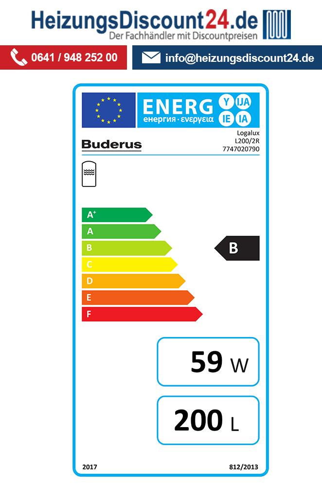 Buderus GB212-15, K59, Gas-Brennwertkessel, L200/2R Speicher, HS25 ...