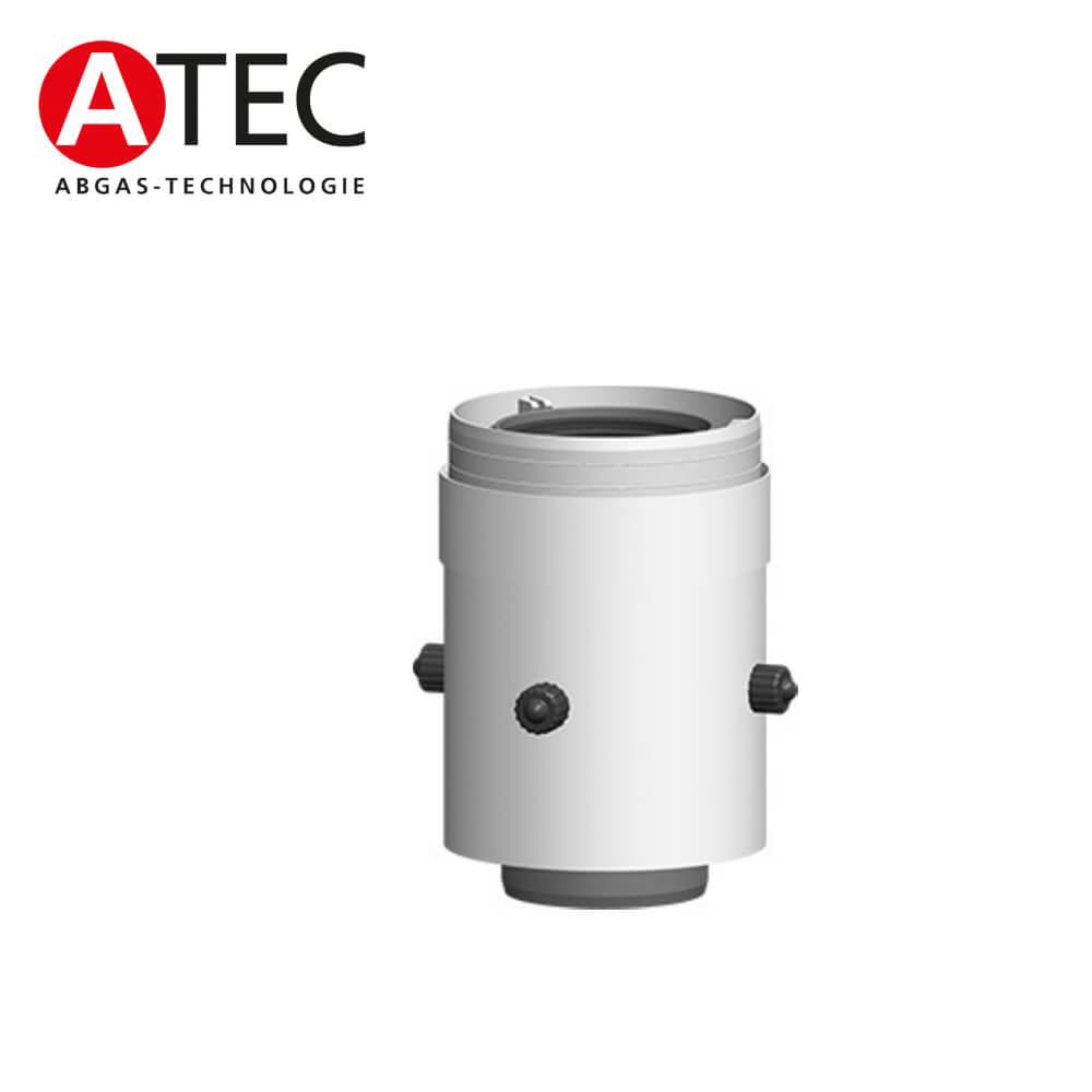 ATEC Abgas 0820 Kesselanschluss mit Messöffnung, gerade, DN60/100 ...