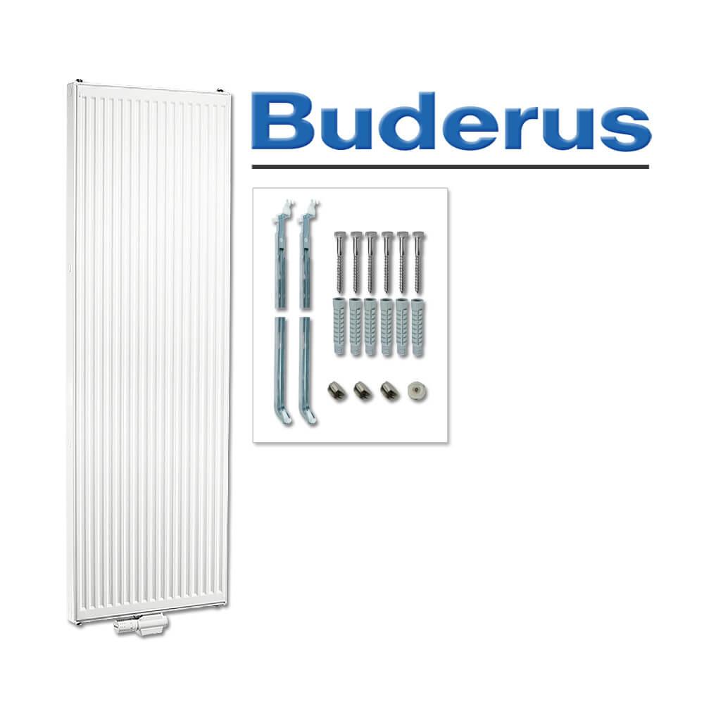 Flachheizkörper Buderus C-profiliert Typ 21 500 x 600 mm mit Wandbefestigung