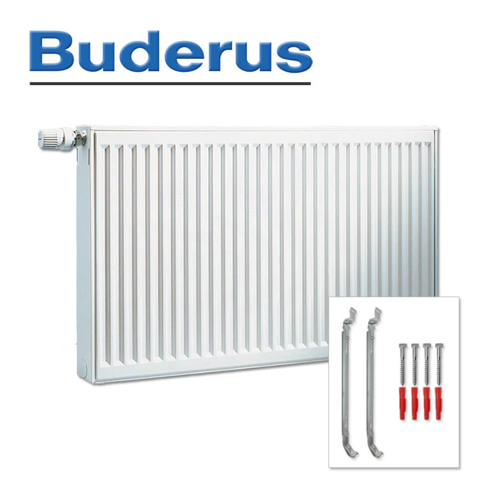 Flachheizkörper Buderus VC-profil Typ 22 Wandbefestigung 600 x 800 mm drehbar