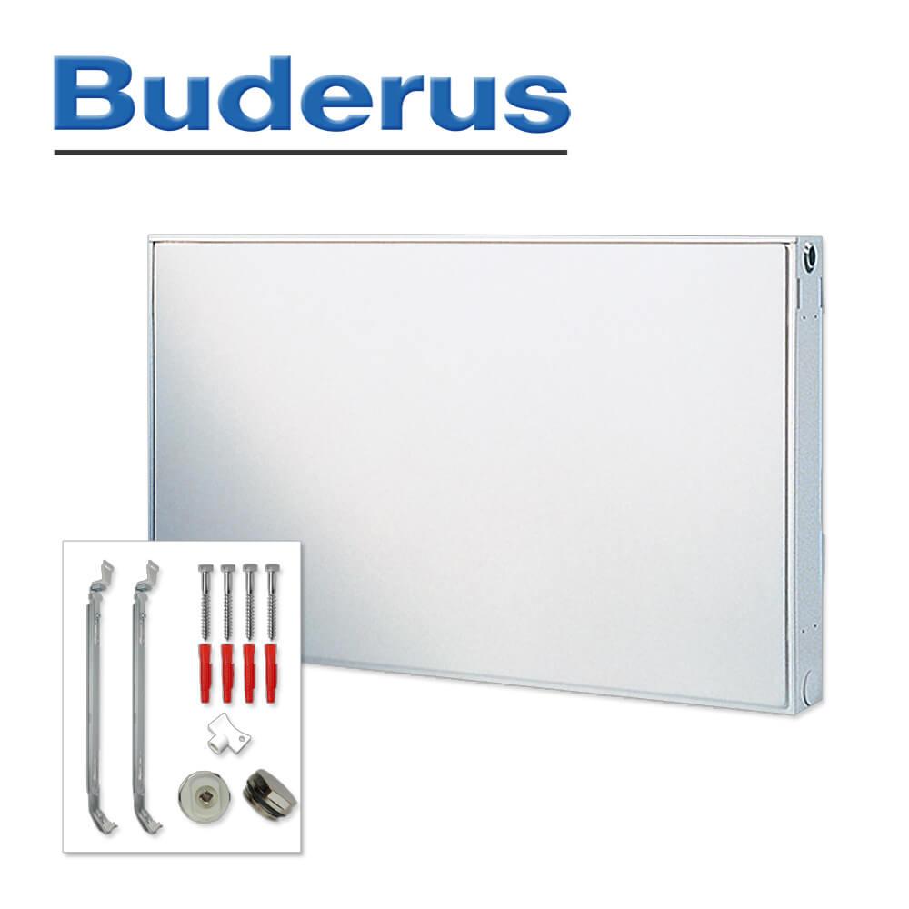 Buderus Kompaktheizk/örper Typ 22 H/öhe 500 x L/änge 2000 mit Halter und Stopfen