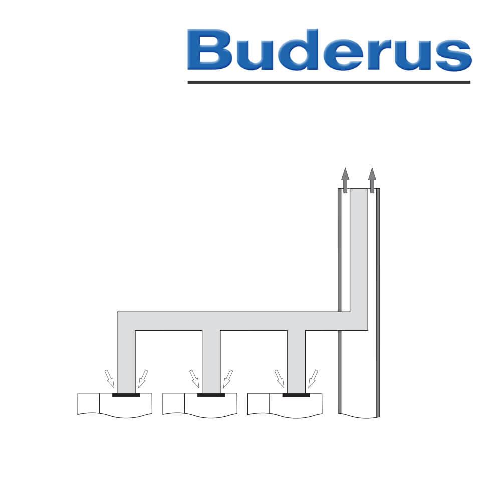 Buderus Grundbausatz Abgaskaskade für 2 Kessel Ø 200 mm ...