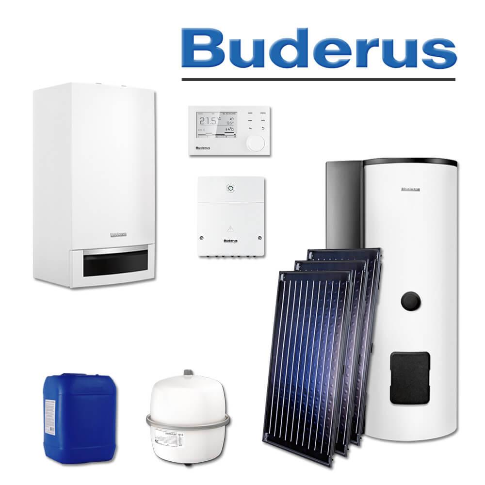 buderus gb172 20 sl104 gas brennwerttherme 3 x skn4 0 s sms290 l ll gas heizung. Black Bedroom Furniture Sets. Home Design Ideas