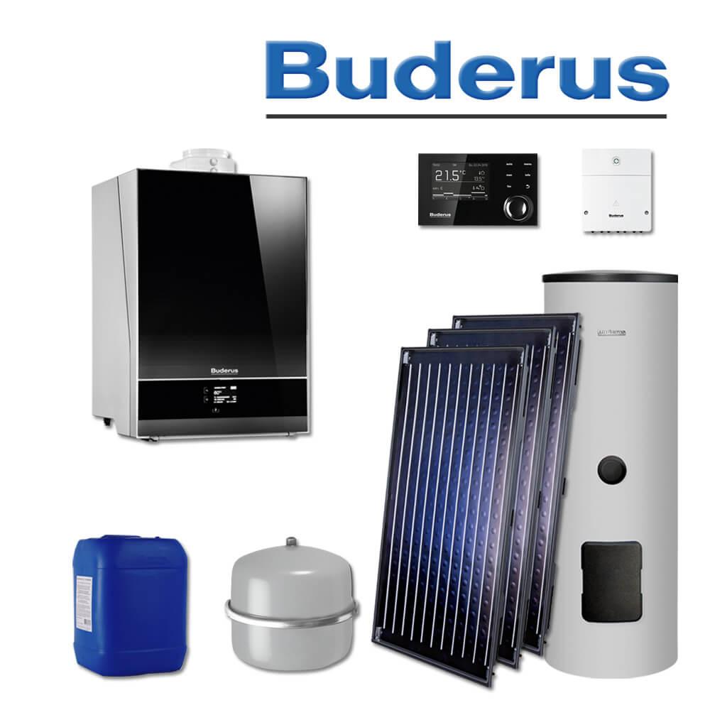 Buderus Logamax plus GB192-25i Gas Brennwerttherme Titaniumglas schwarz