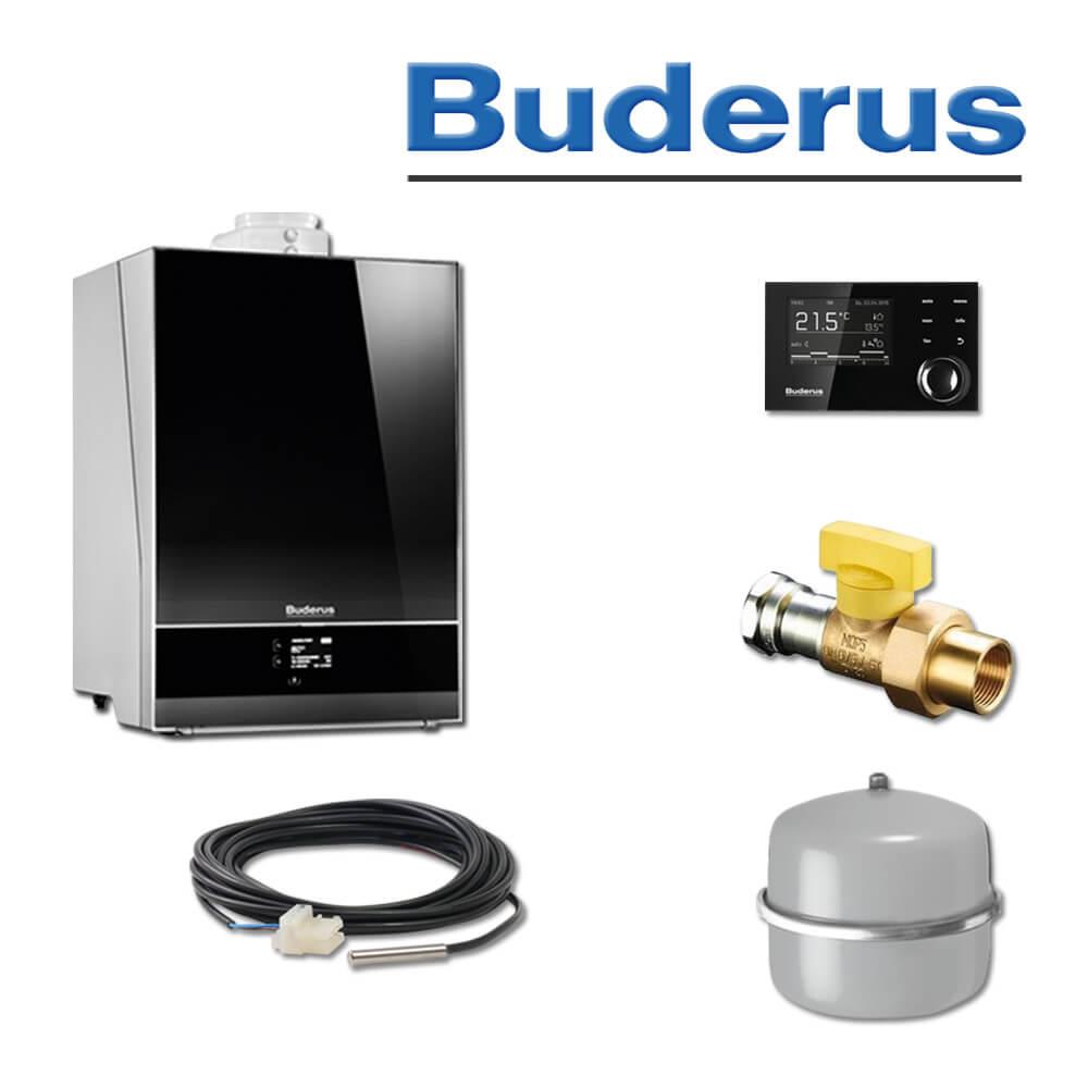 Buderus GB192-35i, 35 kW Logamax plus Gas-Brennwerttherme, weiß ...