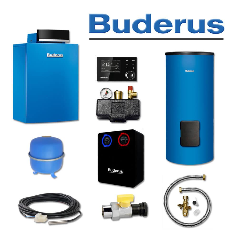 buderus gb212 22 k61 gas brennwertkessel su200 speicher hsm25 l ll gas heizung heizung. Black Bedroom Furniture Sets. Home Design Ideas