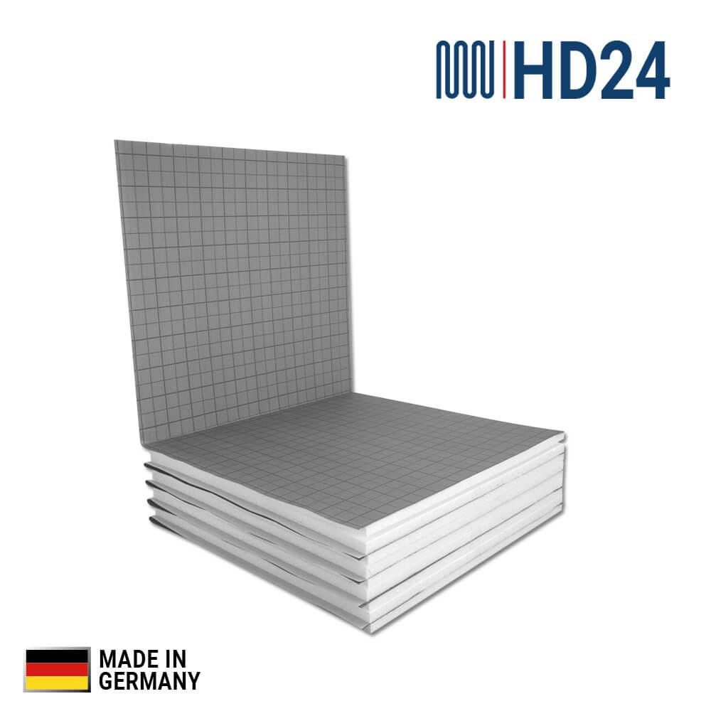 Super 10m² HD24 Fußbodenheizung Dämmplatten für Tackersystem, 20 DEO dm LF48