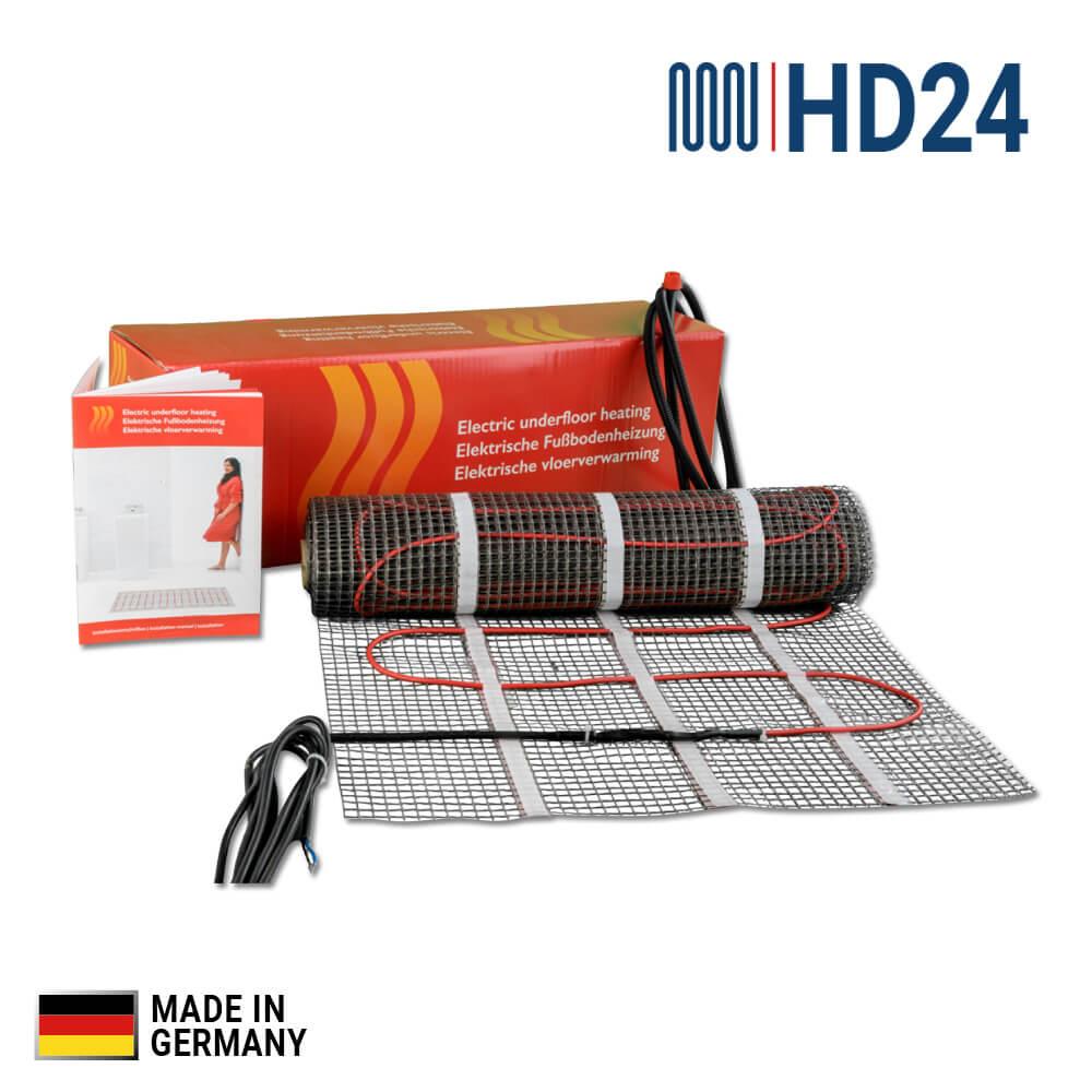3m² HD24 Elektrische Fußbodenheizung, Elektro-Flächenheizung, Heizmatte
