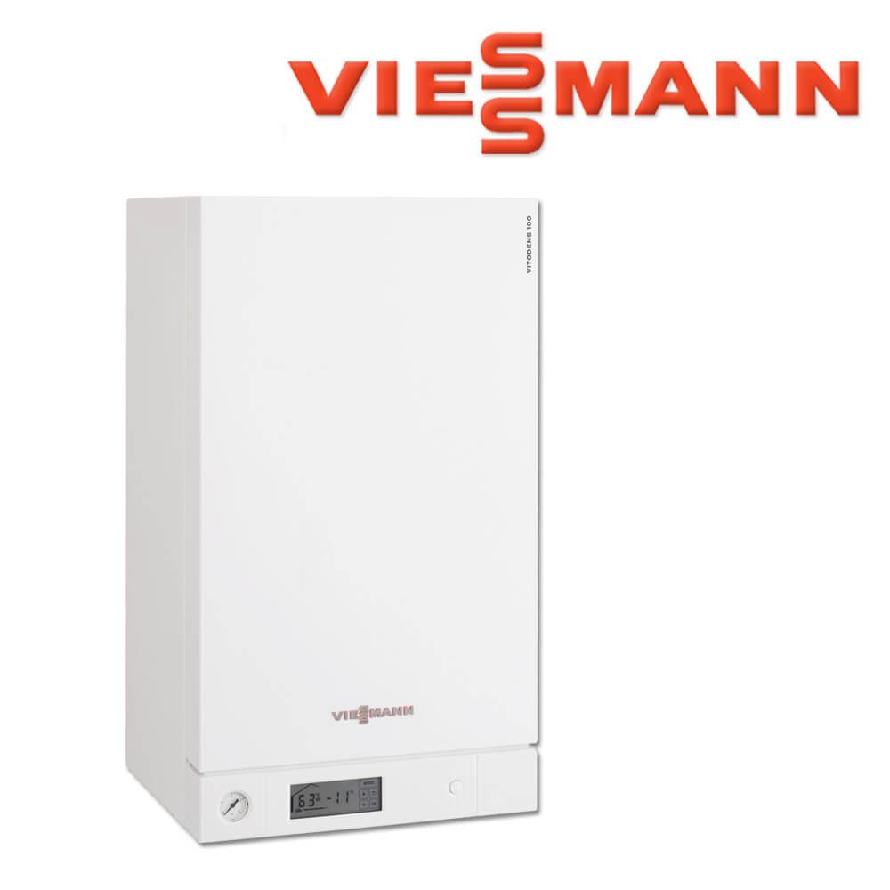 Viessmann Vitodens 100-W Gas-Brennwerttherme, 26 kW, B1HC008 ...