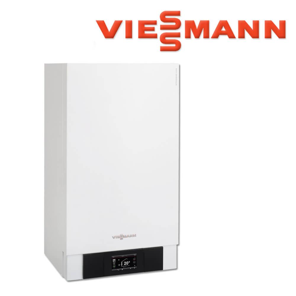 Viessmann Vitodens 200-W Gas-Brennwerttherme, 35 kW, B2HB109, VT100 ...