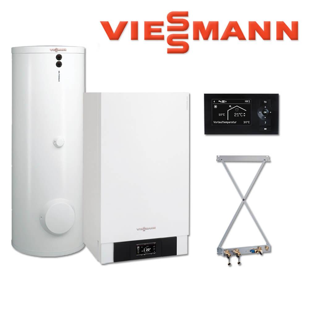 Viessmann Vitodens 200-W Gastherme, 35 kW, B2HB146, 300 L Vitocell ...