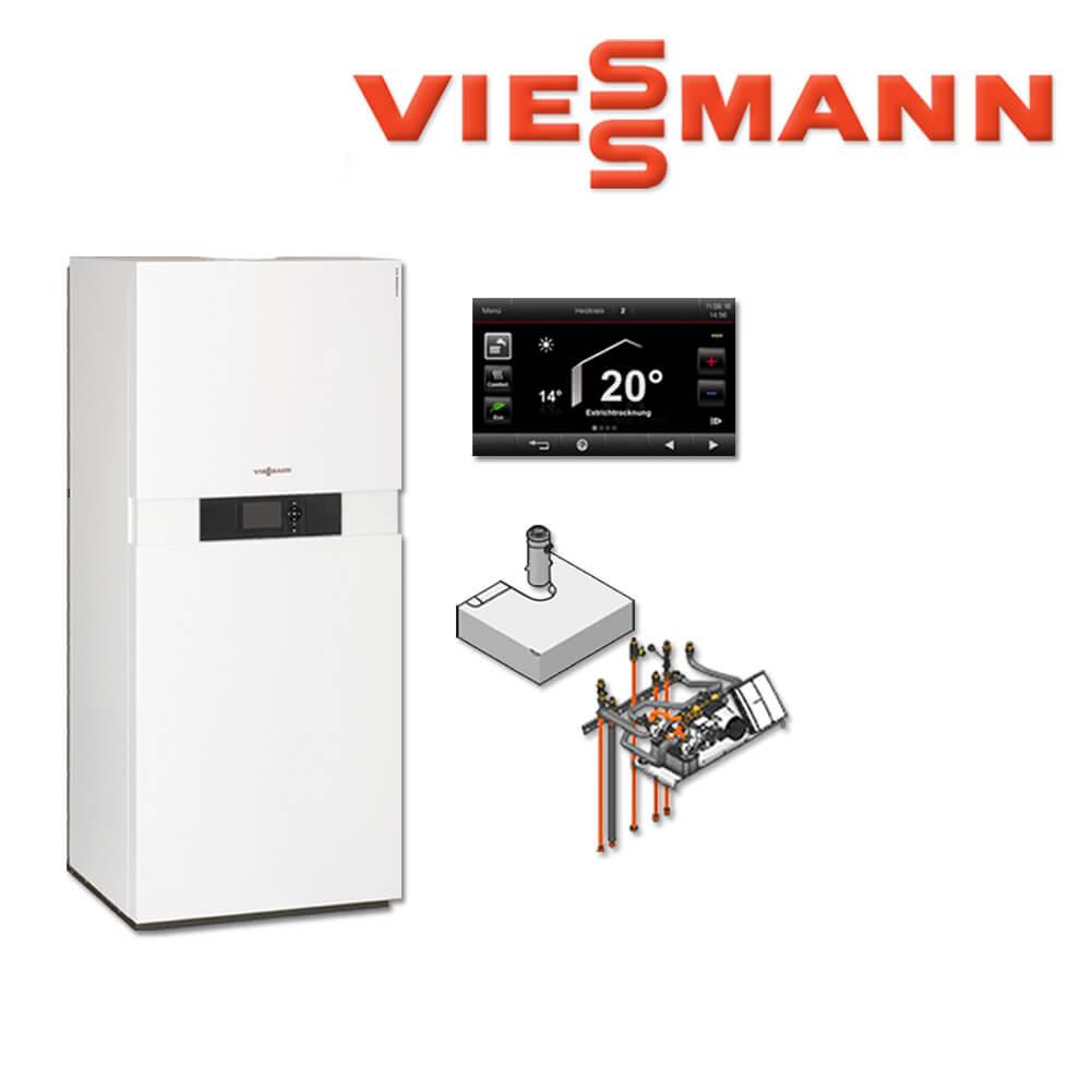 viessmann vitodens 333 f brennwerttherme 19 kw b3tb038 vt200 rf aufbau kit gas heizung. Black Bedroom Furniture Sets. Home Design Ideas