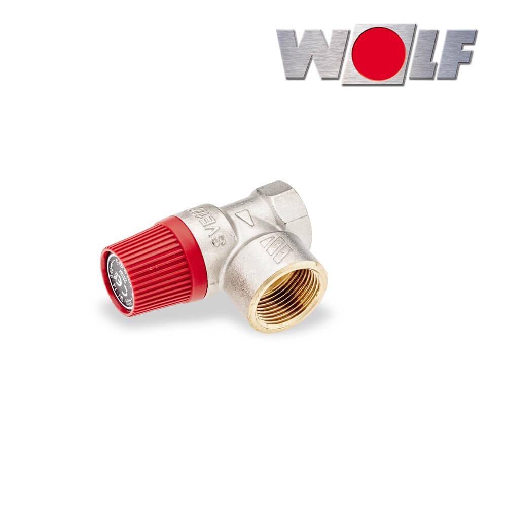 Gut bekannt Wolf Sicherheitsventil 3 bar Ansprechdruck, Anschluss 1/2 QS91
