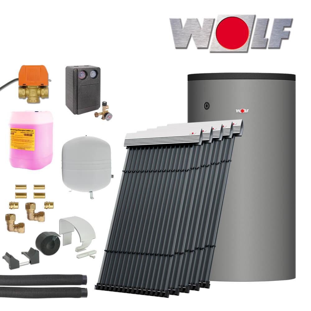 11 5m wolf sonnenpaket mit crk r hrenkollektoren und 800 liter bsh solartechnik heizung und. Black Bedroom Furniture Sets. Home Design Ideas