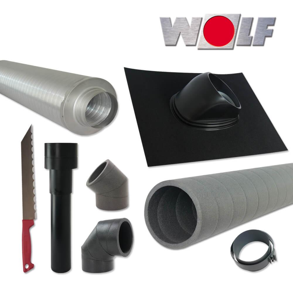 wolf cwl montagepaket dachdurchf hrung dn180 schwarz. Black Bedroom Furniture Sets. Home Design Ideas