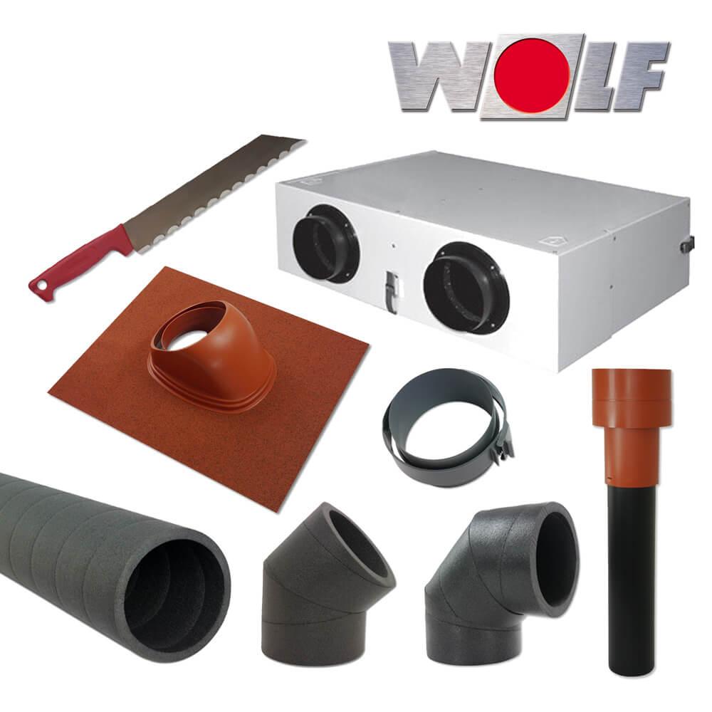 wolf cwl montagepaket dachdurchf hrung rot cwl f 150. Black Bedroom Furniture Sets. Home Design Ideas