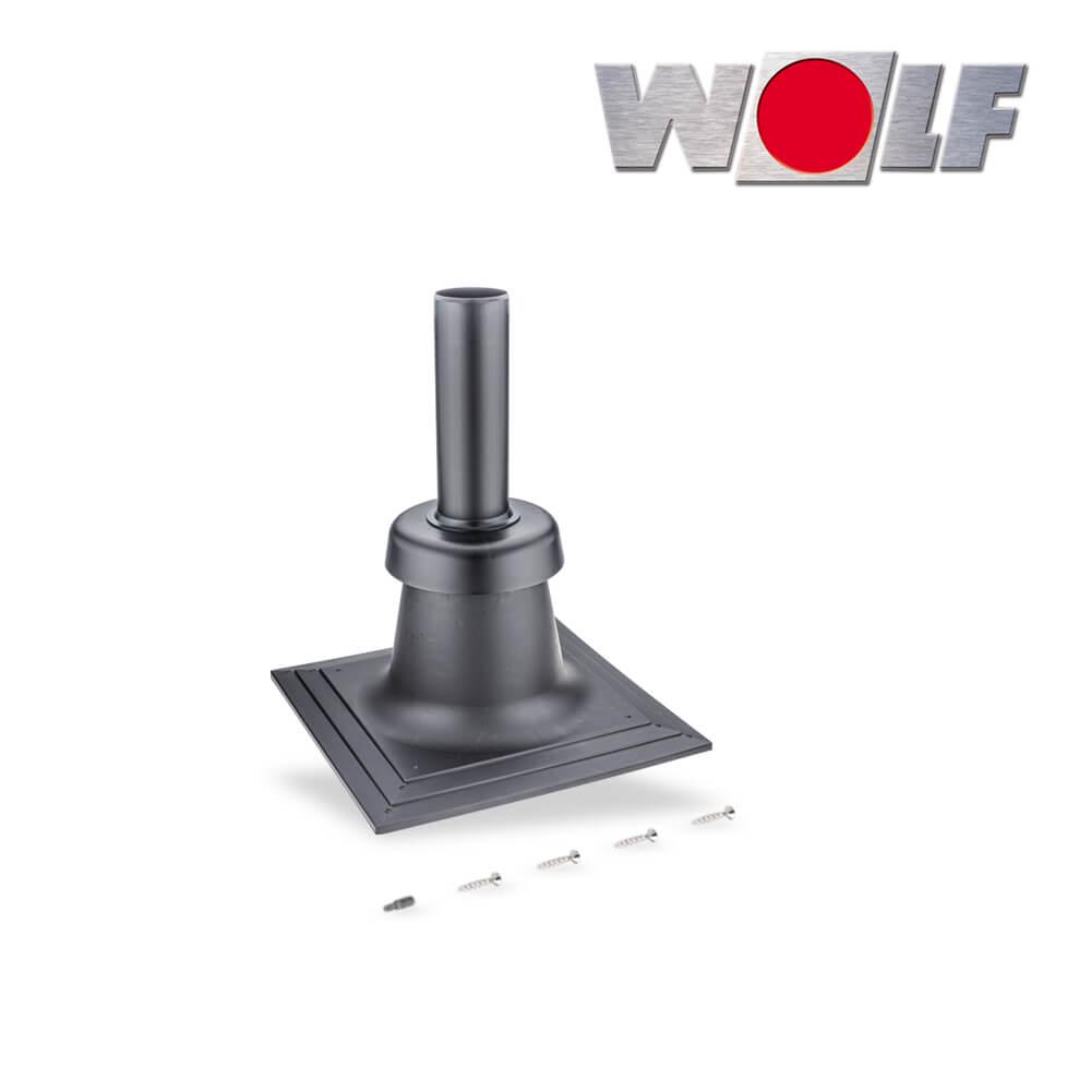 wolf schachtabdeckung dn80 kunststoff inkl m ndungsst ck uv stabilisiert abgassysteme. Black Bedroom Furniture Sets. Home Design Ideas
