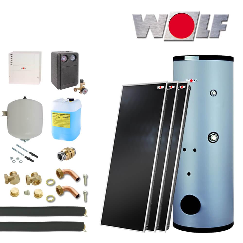 6 9m wolf cfk 1 solaranlage mit 400 liter sem 2 und regelung sm1 2 solartechnik heizung und. Black Bedroom Furniture Sets. Home Design Ideas