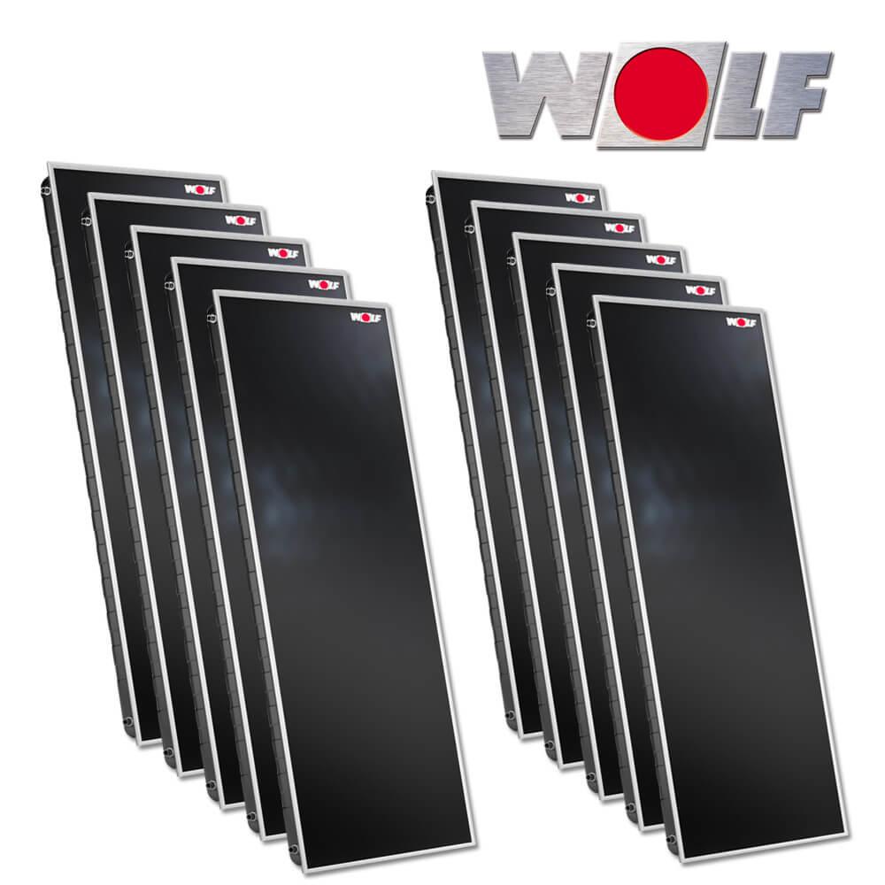 10x Wolf Hochleistungs Sonnenkollektor Cfk 1 23 0 M Solartechnik