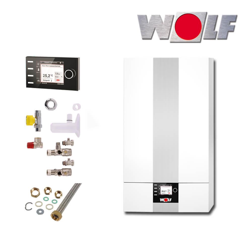 wolf cgb 2 14 14kw gas brennwerttherme mit bedienmodul bm2 und zubeh r gas heizung heizung. Black Bedroom Furniture Sets. Home Design Ideas