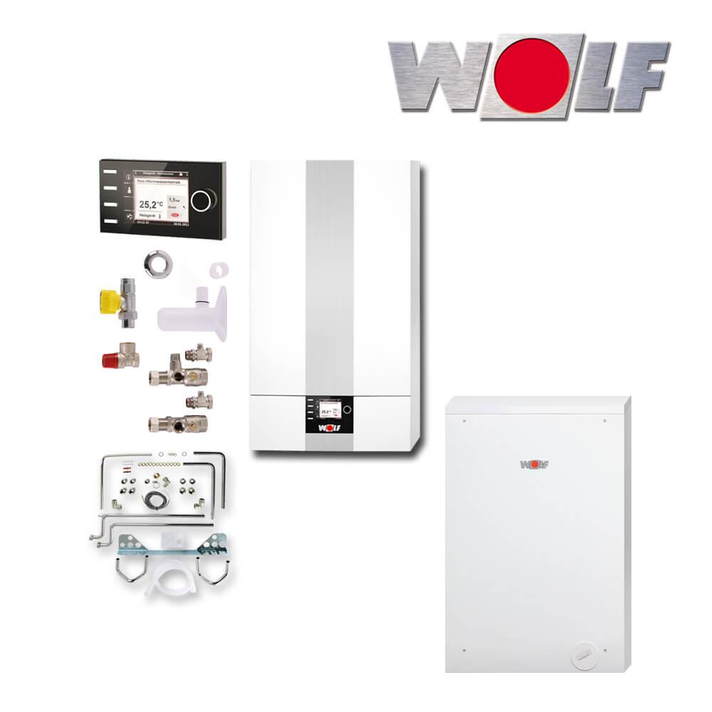 wolf cgb 2 20 20kw gas brennwerttherme mit csw 120 bm2 und zubeh r gas heizung heizung und. Black Bedroom Furniture Sets. Home Design Ideas