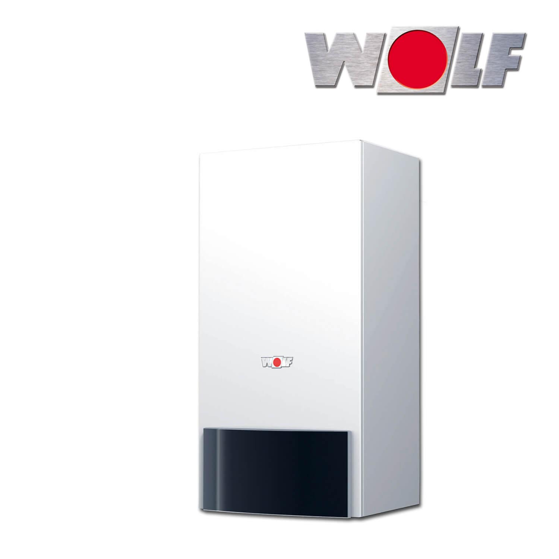 Paket Gas-Brennwerttherme Wolf CGB-35 Erdgas E 9,0-35,0 kW Speicher TWS 300 L