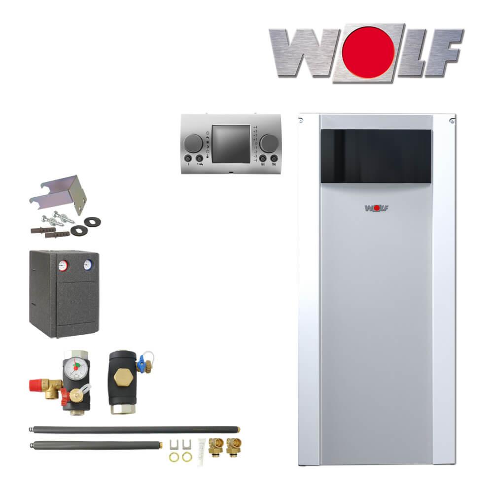 wolf cob 15 15kw l brennwertkessel mit anschluss set cob. Black Bedroom Furniture Sets. Home Design Ideas