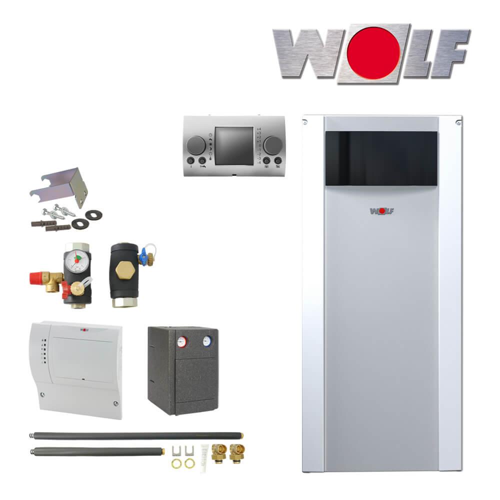 wolf cob 29 29kw l brennwertkessel mit anschluss set cob. Black Bedroom Furniture Sets. Home Design Ideas