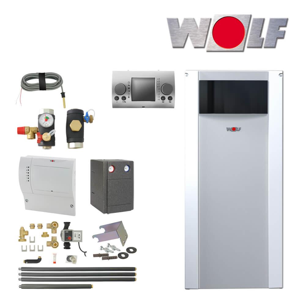 Wolf COB-40 40kW Öl-Brennwertkessel mit Speicheranschluss, Mischer ...