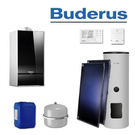 Turbo Buderus GB182-20i, SL116, Gas-Brennwerttherme, schwarz, 2 x SKT1.0 WN15