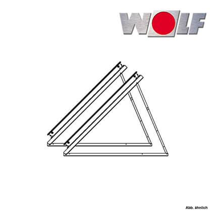 wolf montage set 30 60 flach wandmontage 1x crk r hrenkollektor zubeh r heizung und. Black Bedroom Furniture Sets. Home Design Ideas