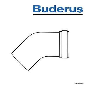 DN80//125 x 450 mm 950 mm 1950 mm Buderus Abgassystem Abgasrohr DN80//125 konzentrisches Rohr 450 mm